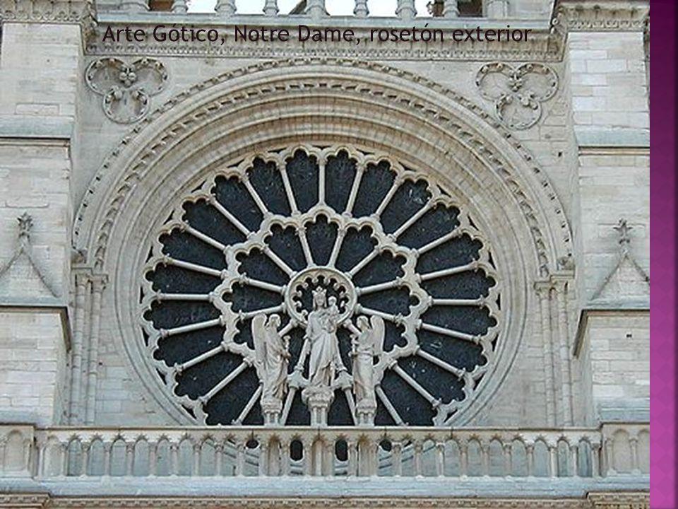 Arte Gótico, Notre Dame, rosetón exterior