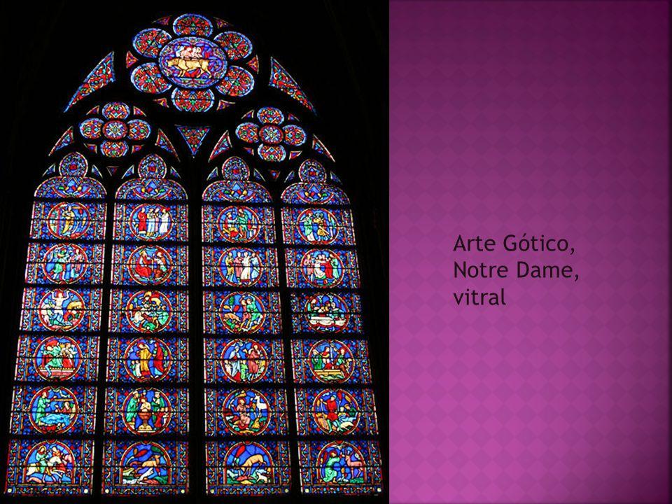 Arte Gótico, Notre Dame, vitral