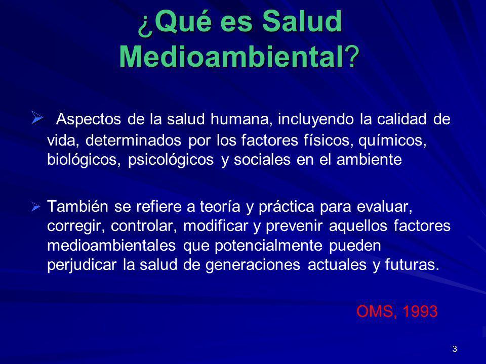 ¿Qué es Salud Medioambiental