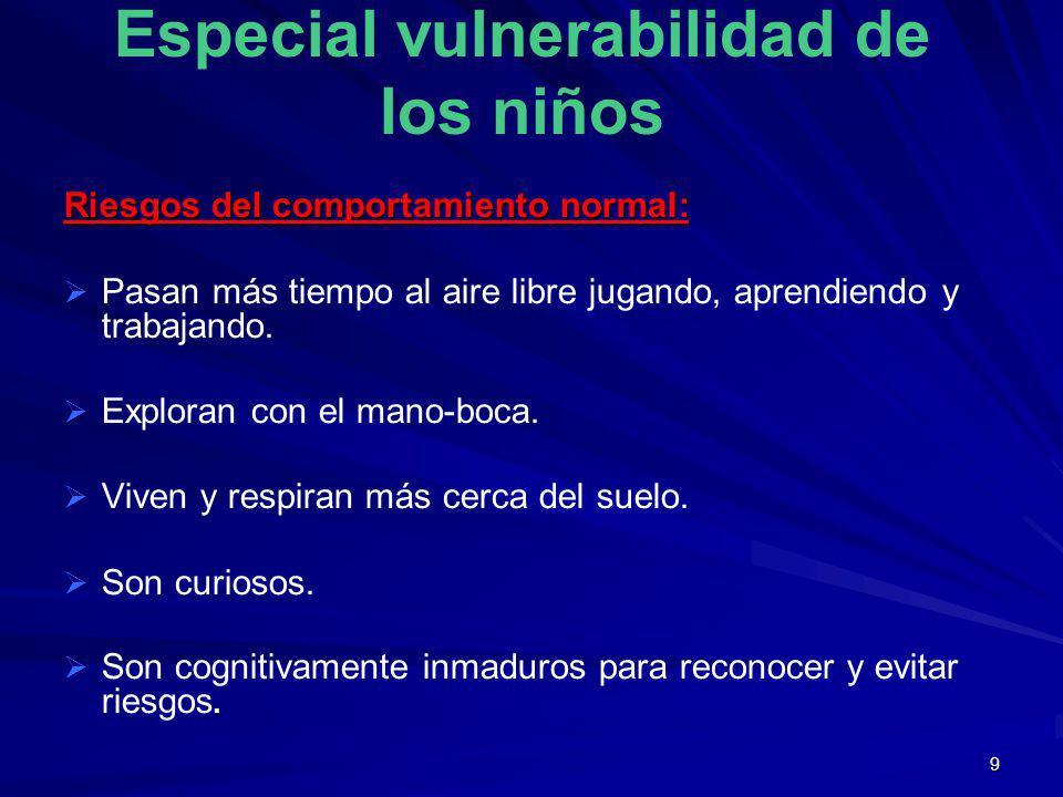 Especial vulnerabilidad de los niños