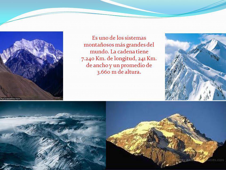 Es uno de los sistemas montañosos más grandes del mundo