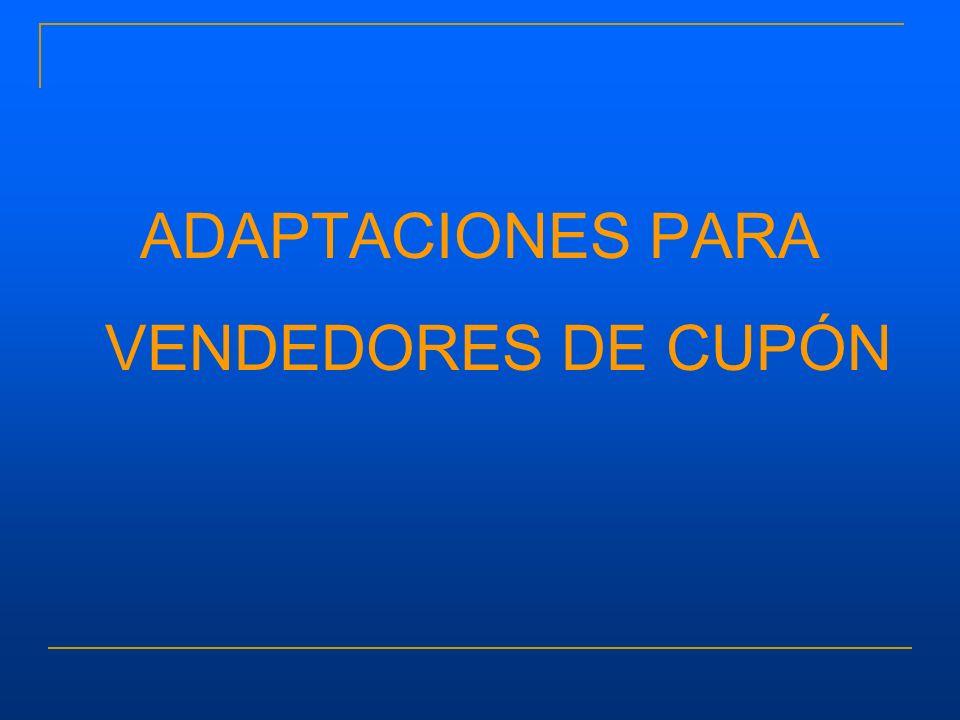 ADAPTACIONES PARA VENDEDORES DE CUPÓN