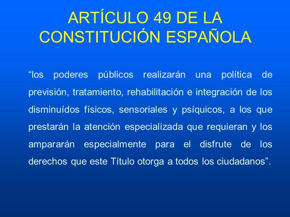 ARTÍCULO 49 DE LA CONSTITUCIÓN ESPAÑOLA