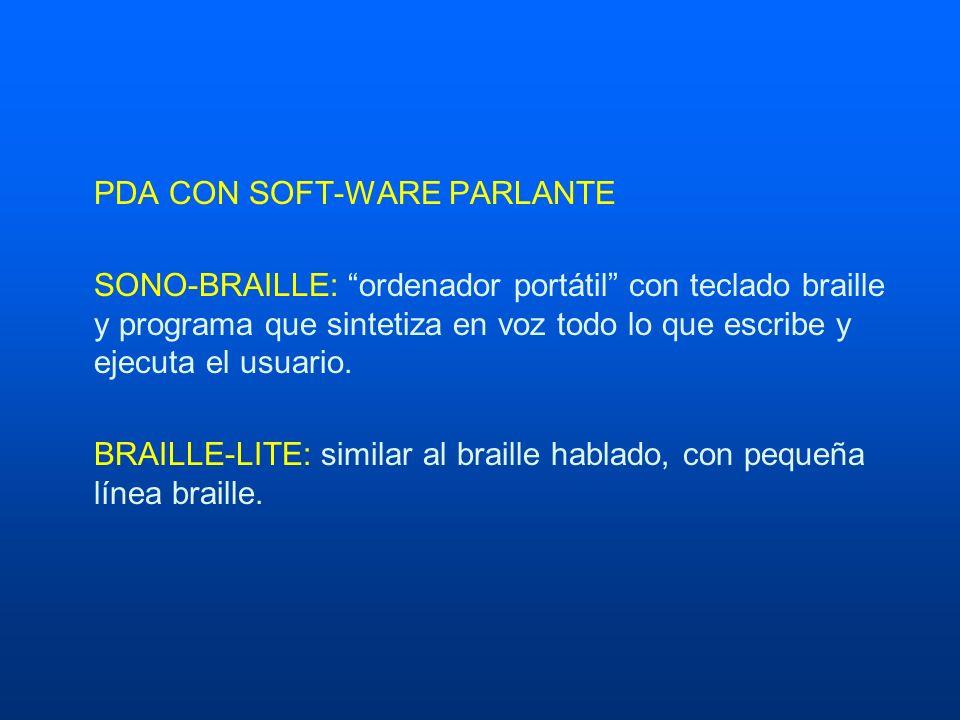 PDA CON SOFT-WARE PARLANTE
