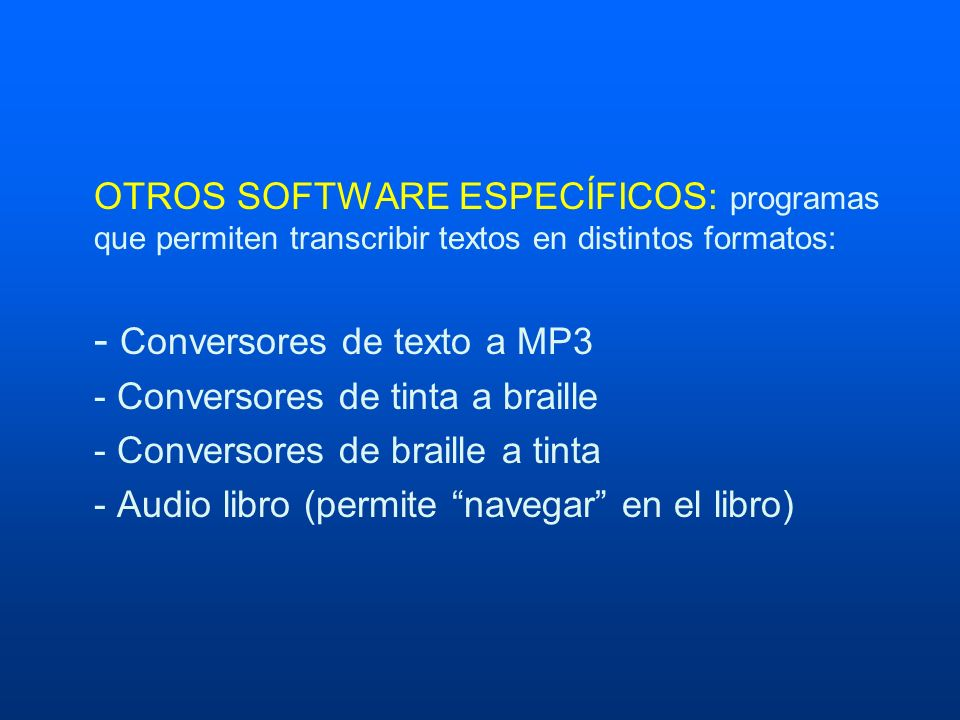 - Conversores de texto a MP3