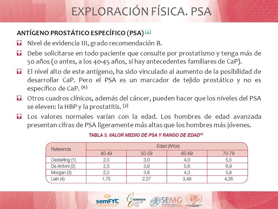 EXPLORACIÓN FÍSICA. PSA