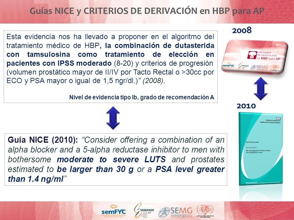 Guías NICE y CRITERIOS DE DERIVACIÓN en HBP para AP