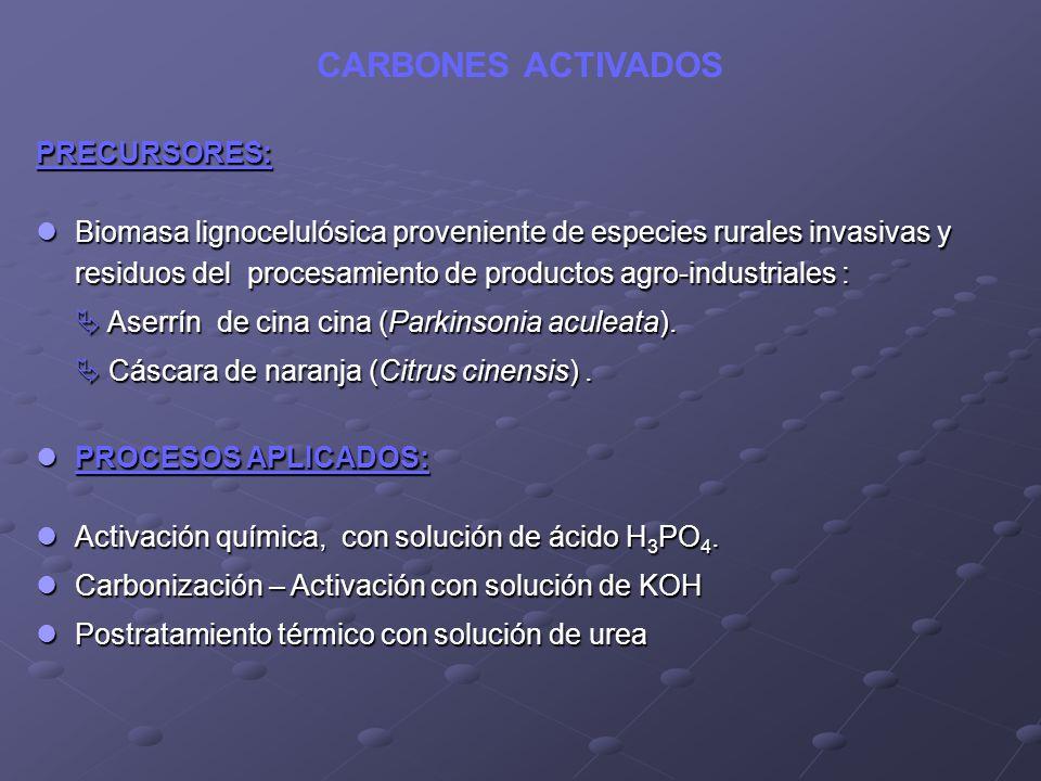 CARBONES ACTIVADOS PRECURSORES: