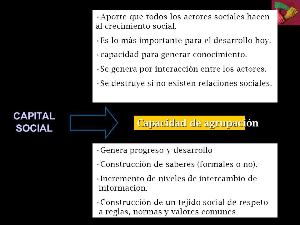 CAPITAL SOCIAL Capacidad de agrupación