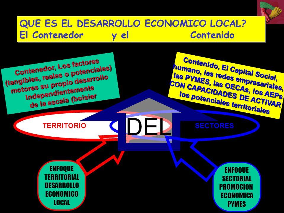 DEL QUE ES EL DESARROLLO ECONOMICO LOCAL El Contenedor y el Contenido
