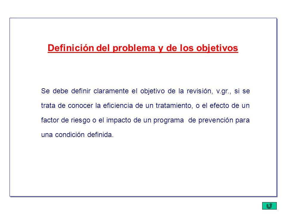 Definición del problema y de los objetivos