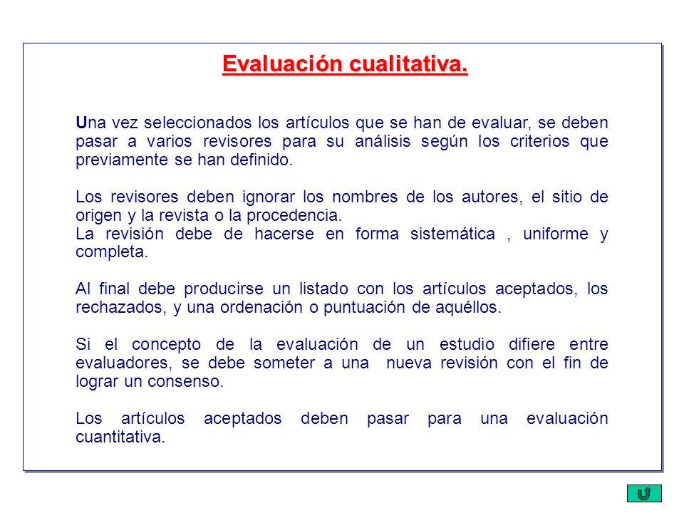 Evaluación cualitativa.
