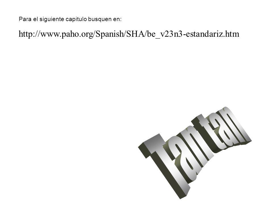 Tan tan http://www.paho.org/Spanish/SHA/be_v23n3-estandariz.htm