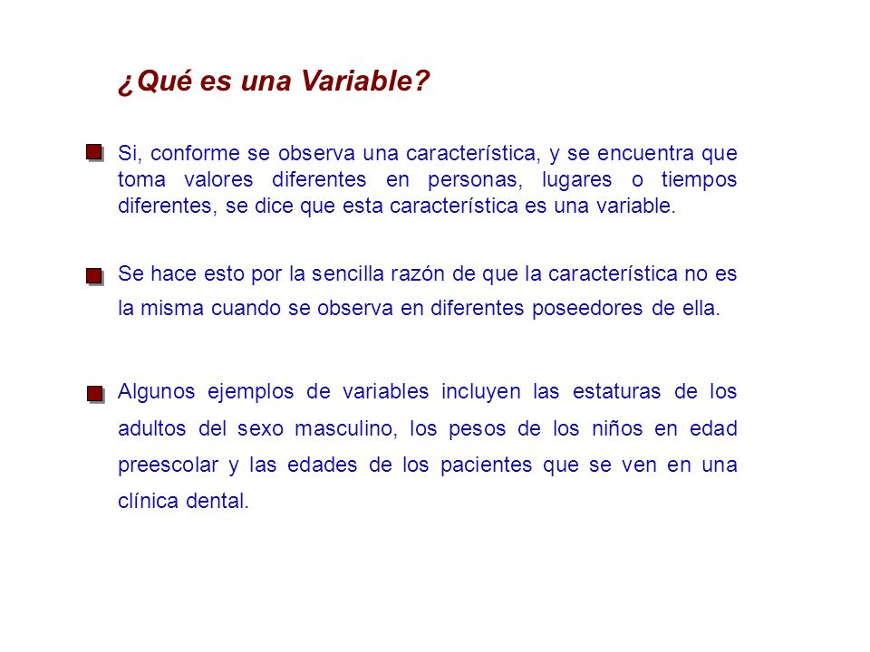 ¿Qué es una Variable