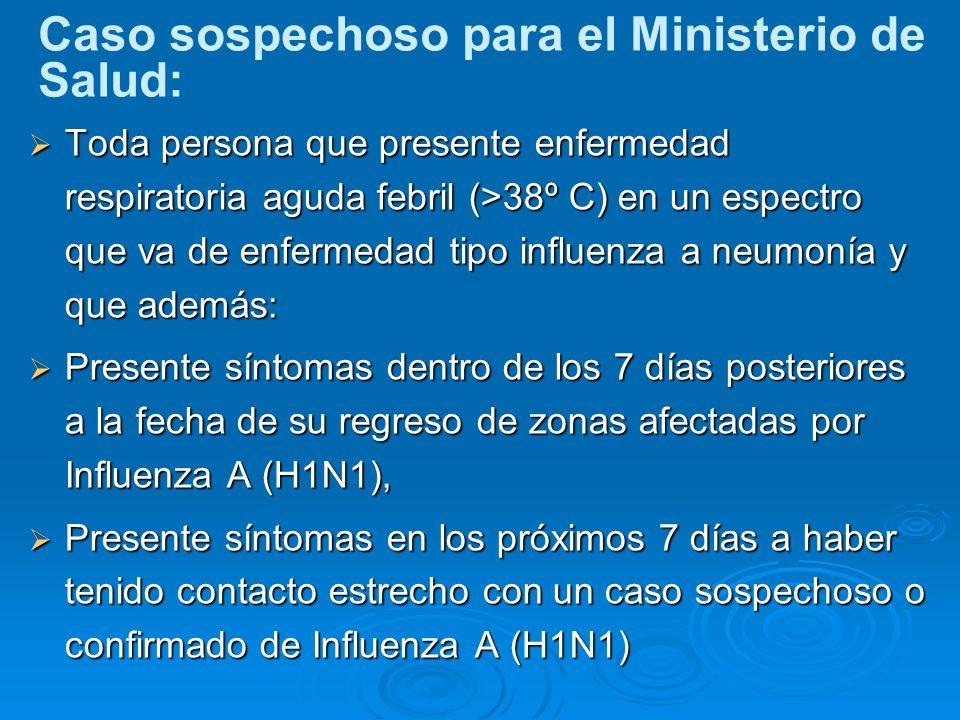 Caso sospechoso para el Ministerio de Salud: