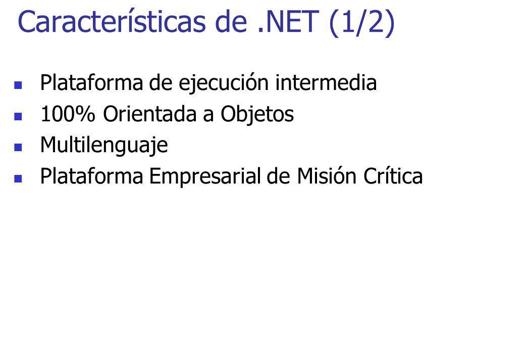 Características de .NET (1/2)