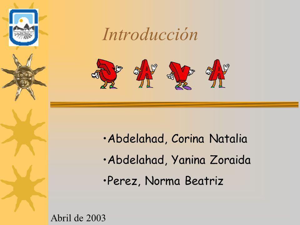 Introducción Abdelahad, Corina Natalia Abdelahad, Yanina Zoraida