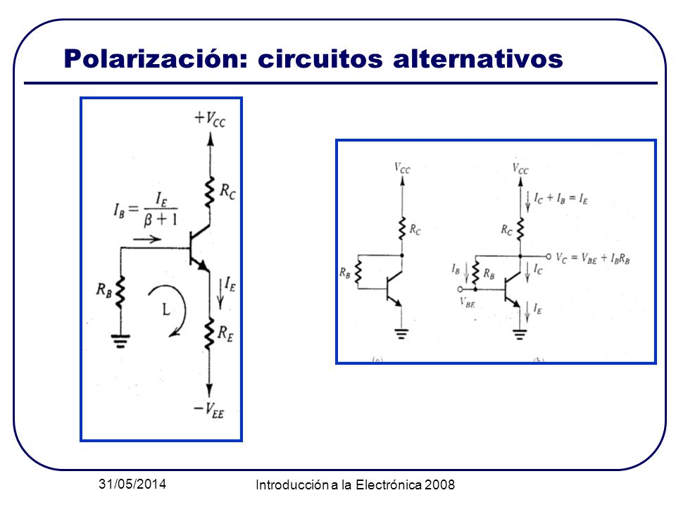 Polarización: circuitos alternativos