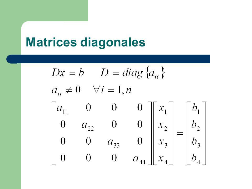 Matrices diagonales