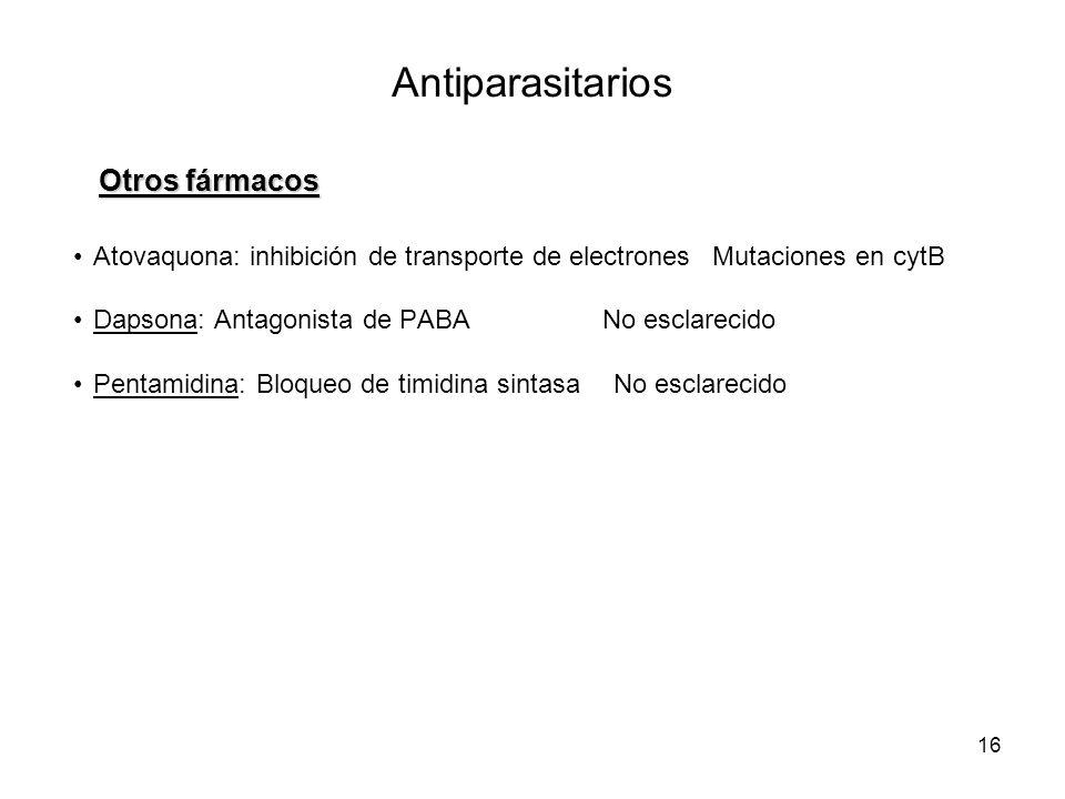 Antiparasitarios Otros fármacos