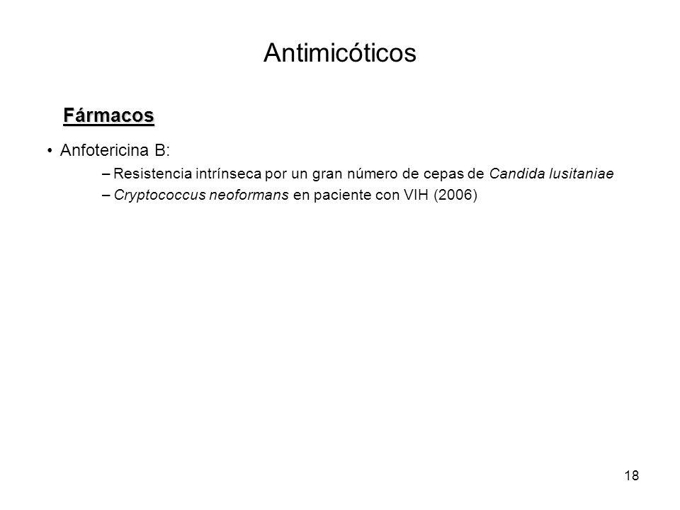 Antimicóticos Fármacos Anfotericina B: