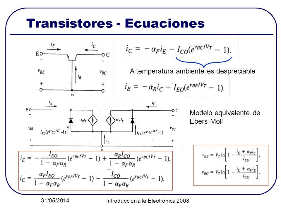 Transistores - Ecuaciones