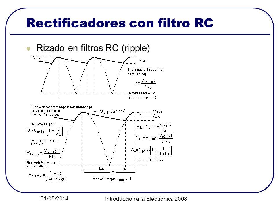 Rectificadores con filtro RC