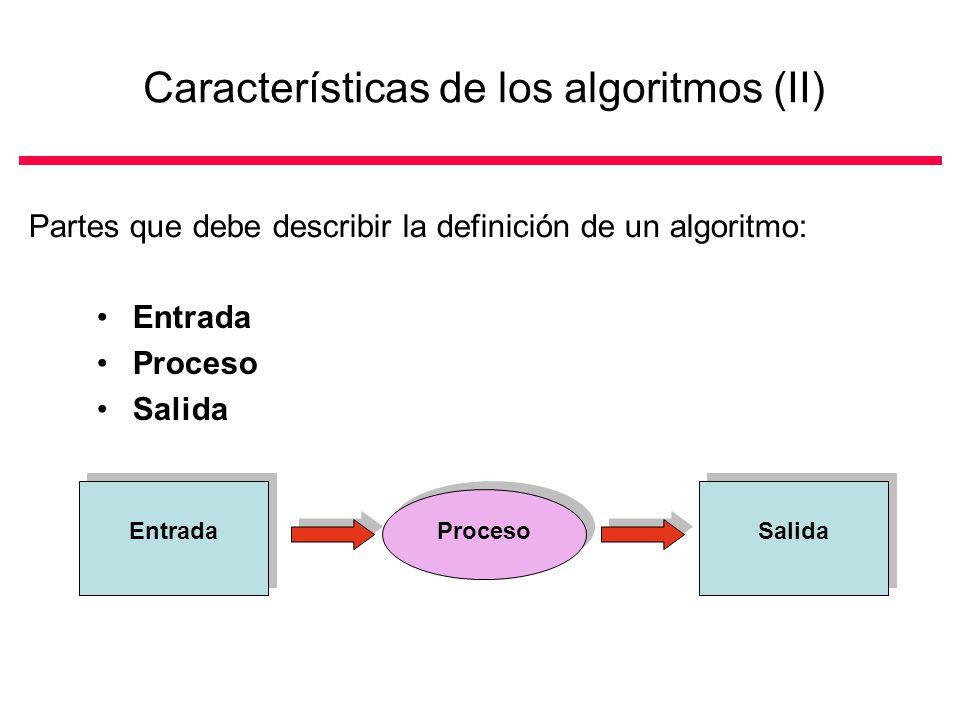 Características de los algoritmos (II)
