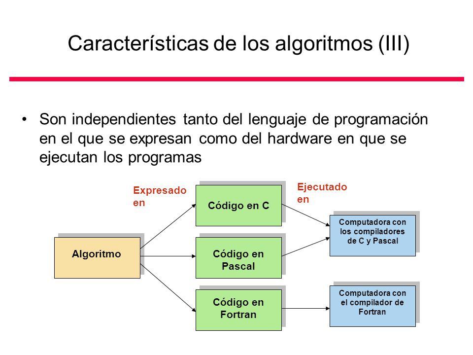 Características de los algoritmos (III)