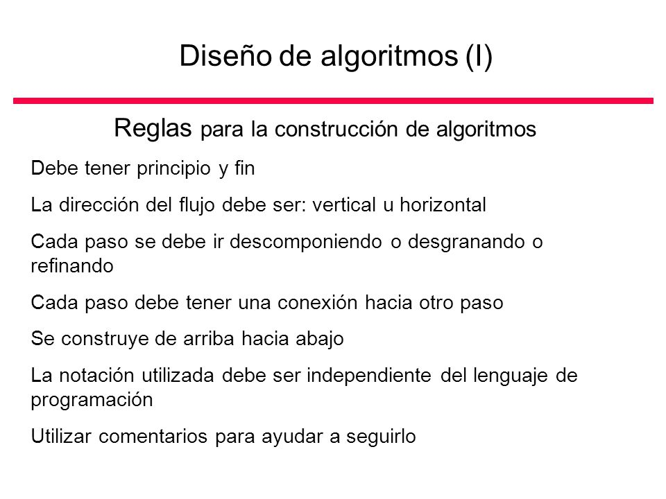 Diseño de algoritmos (I)