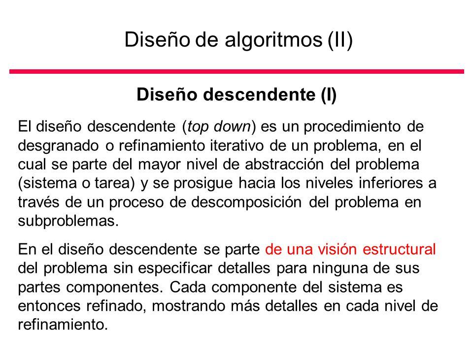 Diseño de algoritmos (II)