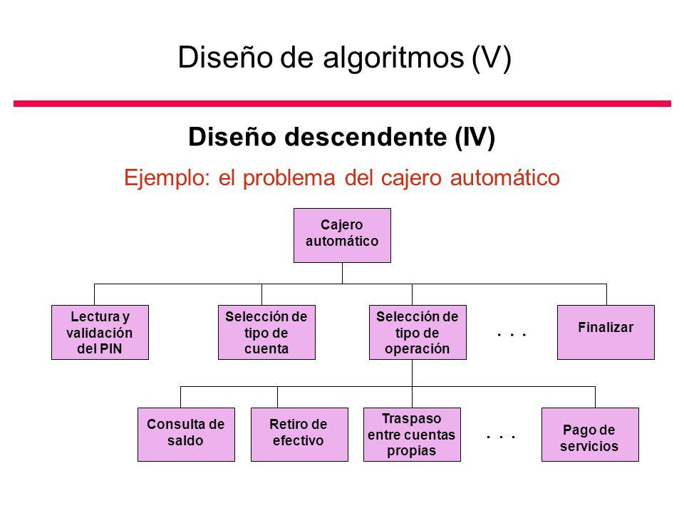 Diseño de algoritmos (V)
