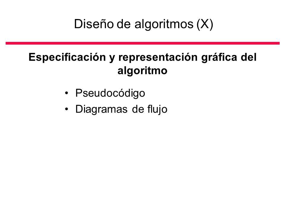 Diseño de algoritmos (X)
