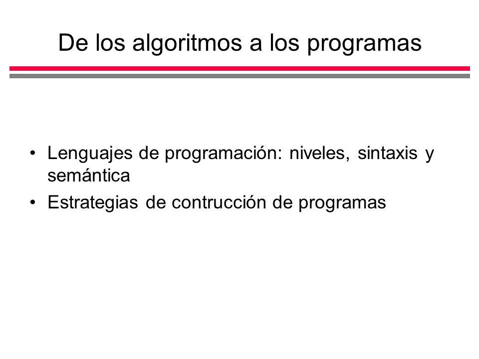 De los algoritmos a los programas