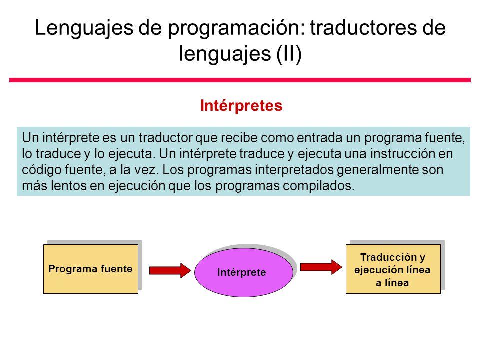 Lenguajes de programación: traductores de lenguajes (II)