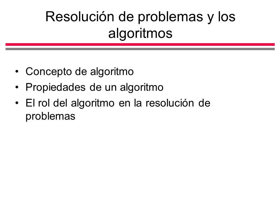 Resolución de problemas y los algoritmos