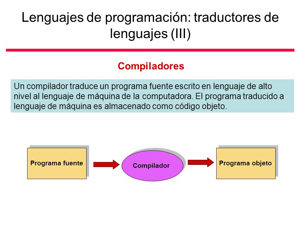 Lenguajes de programación: traductores de lenguajes (III)