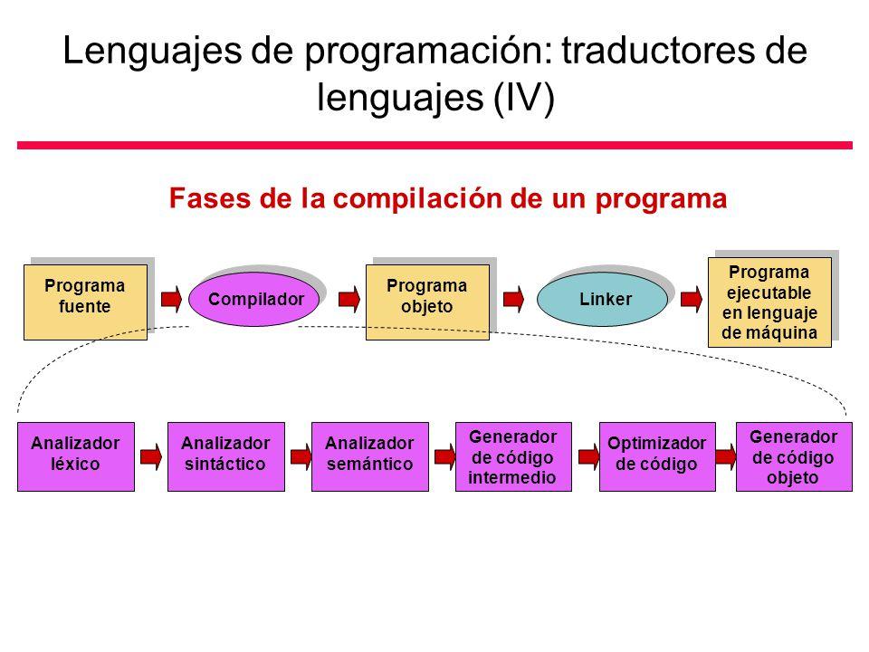 Lenguajes de programación: traductores de lenguajes (IV)