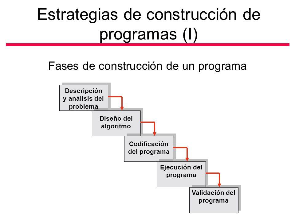Estrategias de construcción de programas (I)