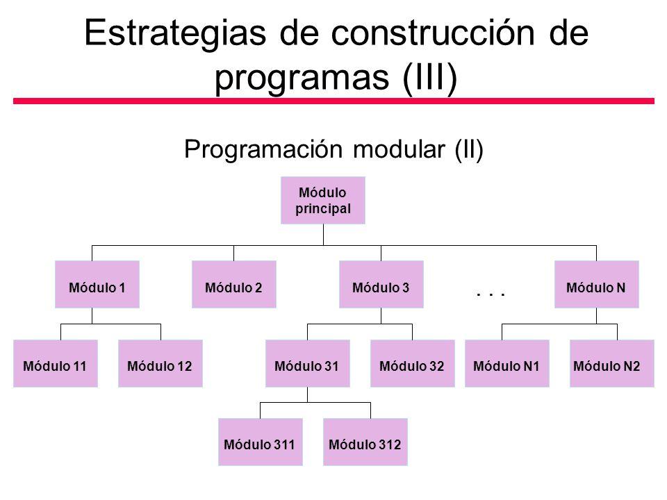 Estrategias de construcción de programas (III)