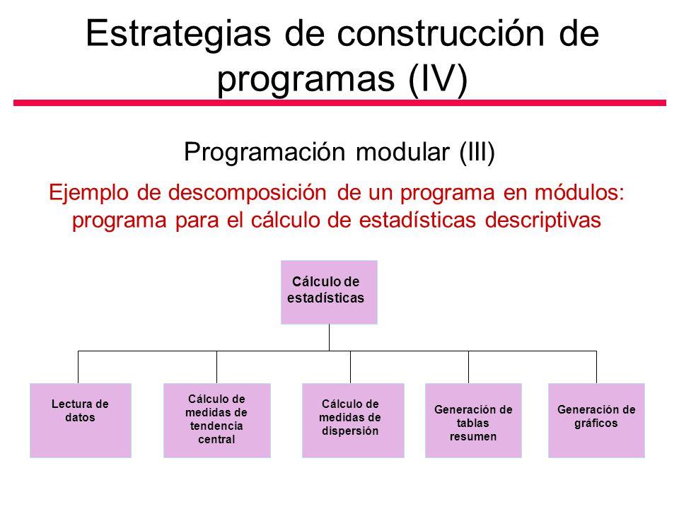 Estrategias de construcción de programas (IV)