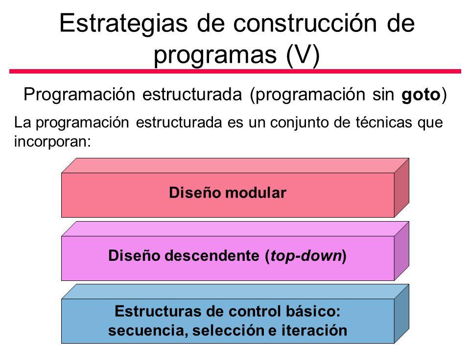 Estrategias de construcción de programas (V)