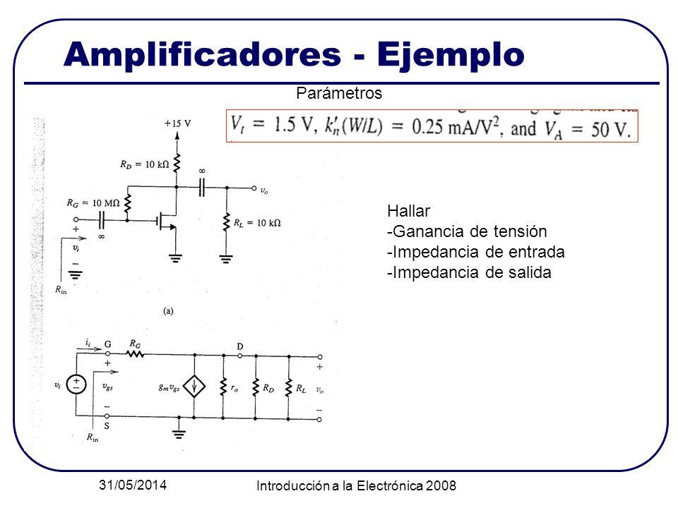 Amplificadores - Ejemplo