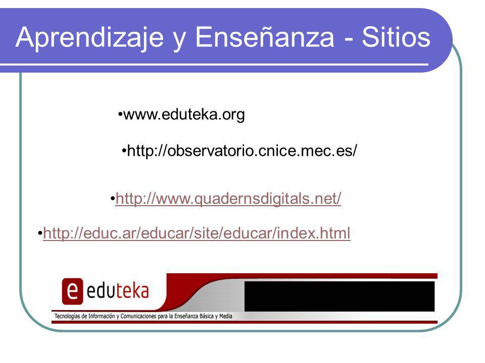 Aprendizaje y Enseñanza - Sitios