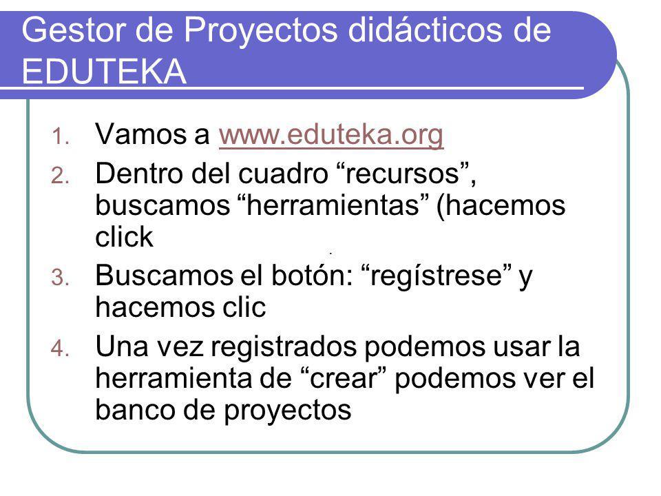 Gestor de Proyectos didácticos de EDUTEKA