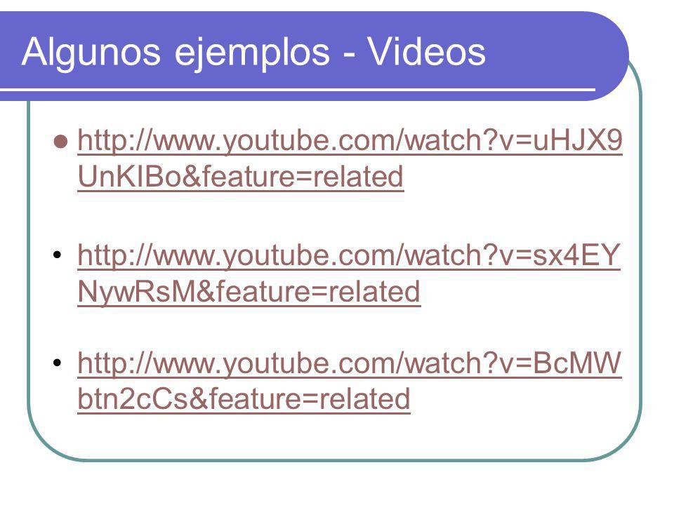 Algunos ejemplos - Videos