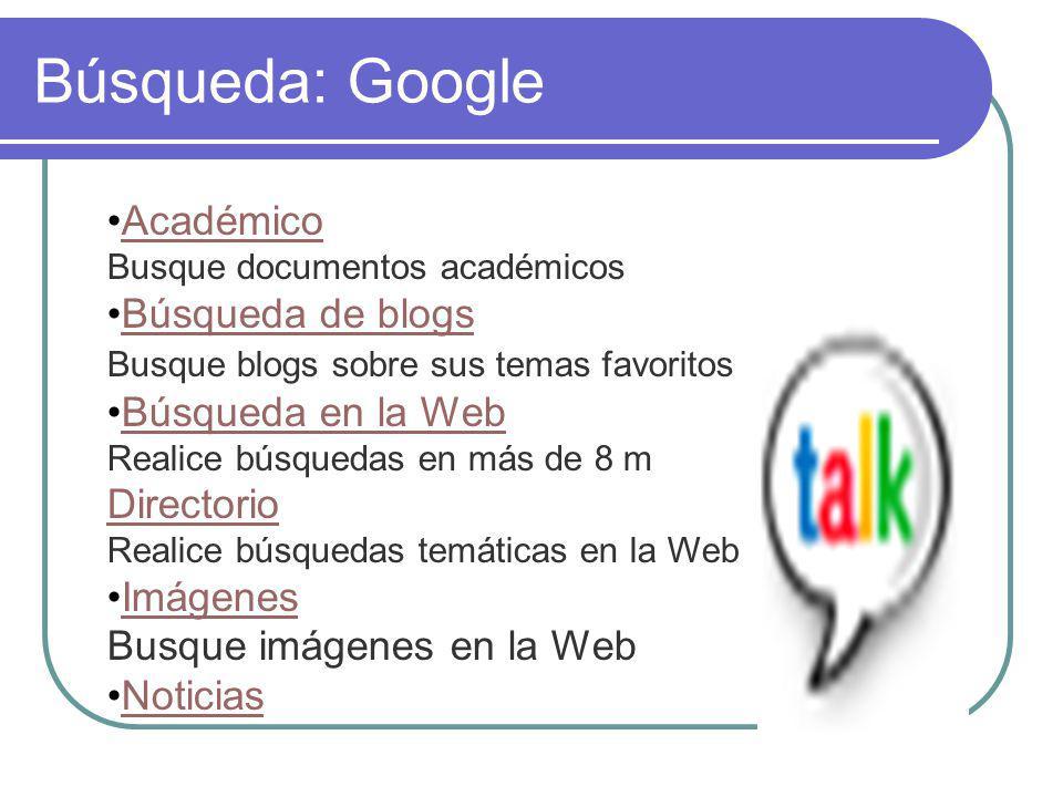 Búsqueda: Google Académico Busque documentos académicos