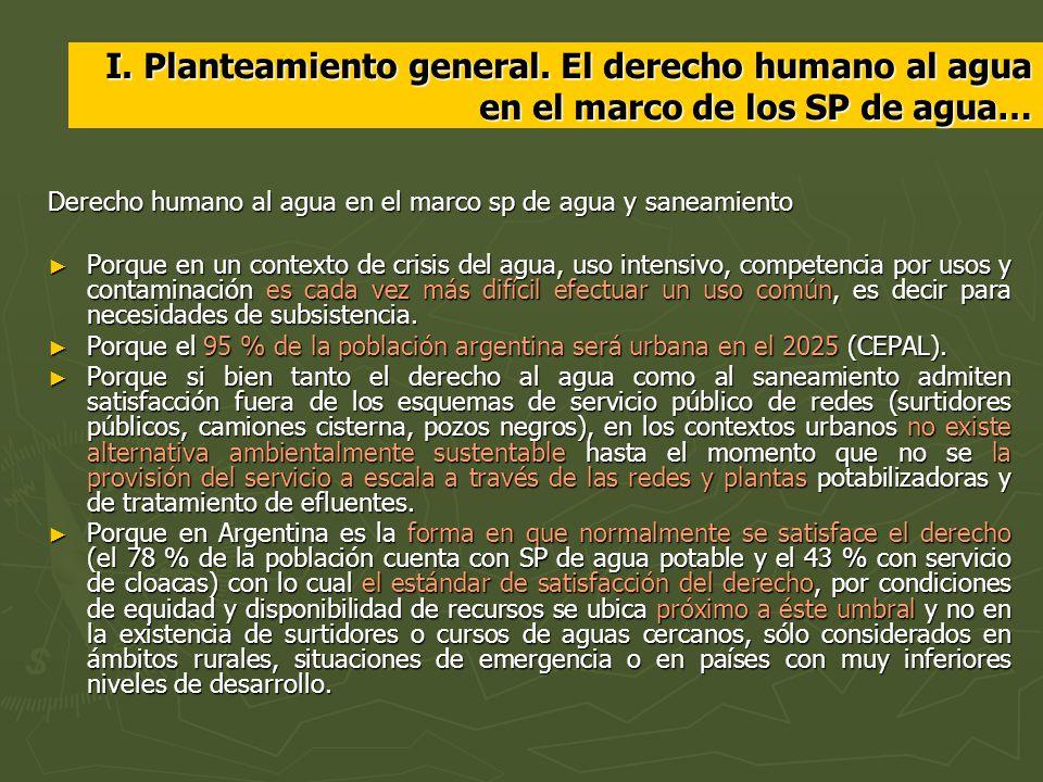 I. Planteamiento general