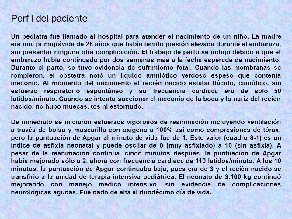 Perfil del paciente