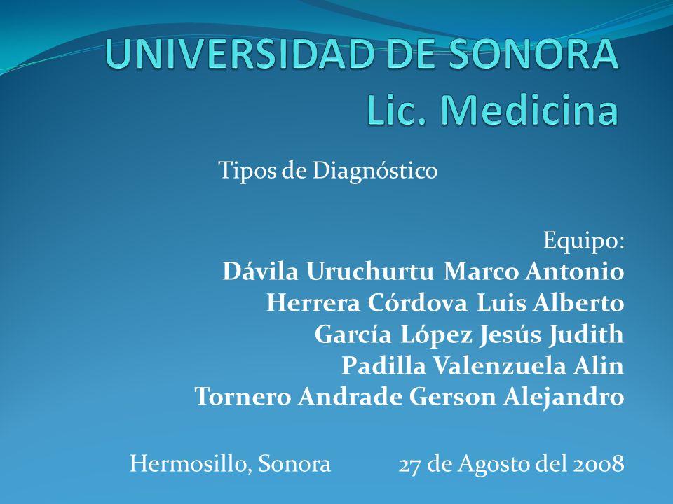 UNIVERSIDAD DE SONORA Lic. Medicina